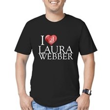 I Heart Laura Webber Men's Fitted T-Shirt (dark)