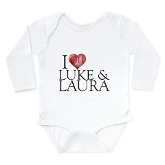 I Heart Luke & Laura Long Sleeve Infant Bodysuit