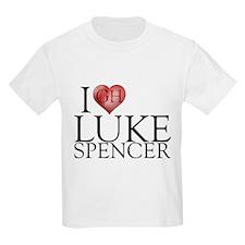 I Heart Luke Spencer Kids Light T-Shirt