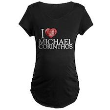 I Heart Michael Corinthos Maternity Dark T-Shirt