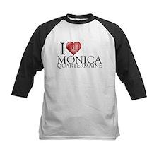 I Heart Monica Quartermaine Kids Baseball Jersey