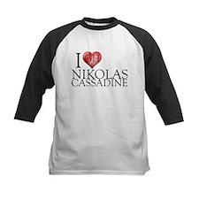 I Heart Nikolas Cassadine Kids Baseball Jersey