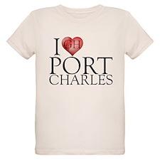 I Heart Port Charles Organic Kids T-Shirt
