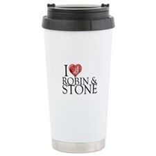 I Heart Robin & Stone Stainless Steel Travel Mug