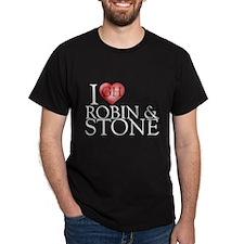 I Heart Robin & Stone Dark T-Shirt