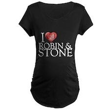I Heart Robin & Stone Maternity Dark T-Shirt