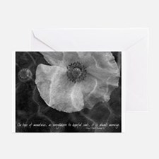 """Poppy"" Thoreau Quote Photo Notecards (Set of 6)"