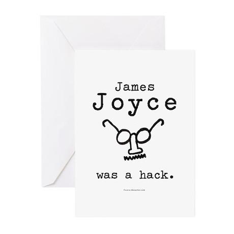 James Joyce Hack Greeting Cards (Pk of 10)