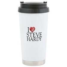 I Heart Steve Hardy Stainless Steel Travel Mug