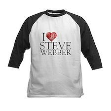 I Heart Steve Webber Kids Baseball Jersey