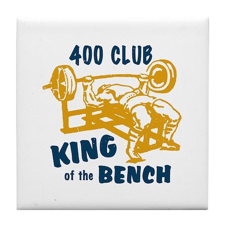 400 Club Bench Press Tile Coaster