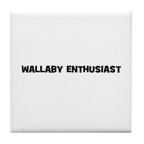 Wallaby Enthusiast Tile Coaster