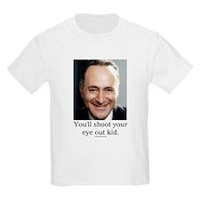 Chuck Schumer Shoot your eye out Kids T-Shirt