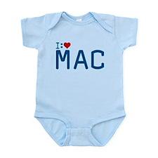 I Heart Mac Infant Bodysuit