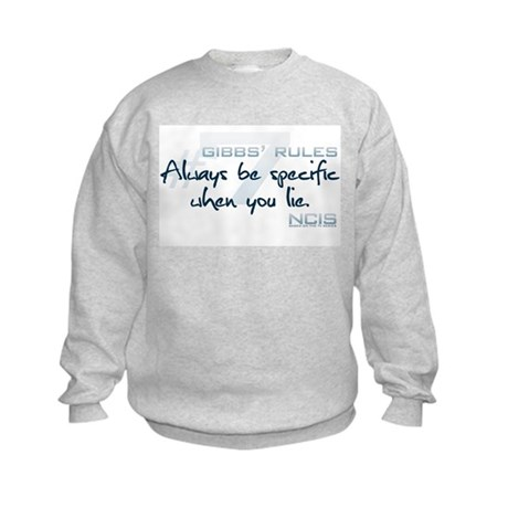 Gibbs' Rules #7 Kids Sweatshirt