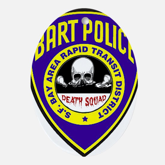 BART Police Death Squad Ornament (Oval)