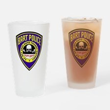 BART Police Death Squad Drinking Glass