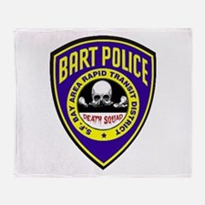 BART Police Death Squad Throw Blanket