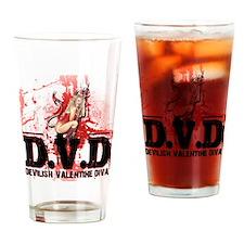 Devilish Valentine Diva Drinking Glass