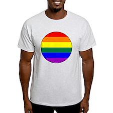 Round Pride Flag T-Shirt