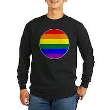 Round Pride Flag T