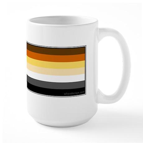 Bear Pride Flag Large Mug