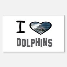 Cute Dolphins Sticker (Rectangle)