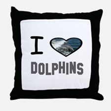 Cute Dolphins Throw Pillow