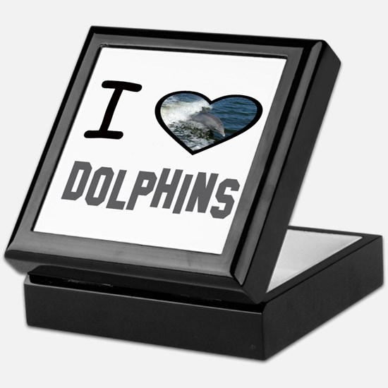 Cute The hearts of the dolphins Keepsake Box