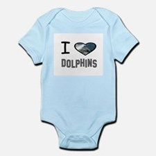 Cute The hearts of the dolphins Infant Bodysuit