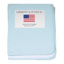 Liberty & Justice - Brand Nam baby blanket