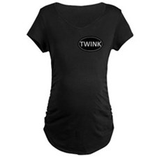 TWINK Black Euro Oval T-Shirt