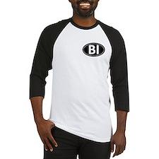 BI Black Euro Oval Baseball Jersey