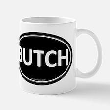 BUTCH Black Euro Oval Mug