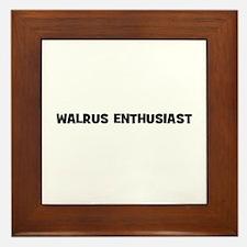 Walrus Enthusiast Framed Tile