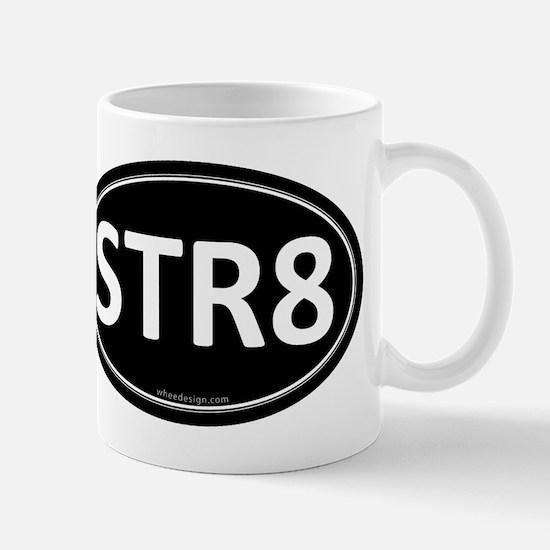 STR8 Black Euro Oval Mug