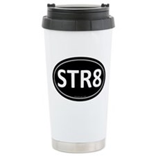 STR8 Black Euro Oval Travel Mug