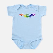 Rainbow Pride Dragon Infant Bodysuit