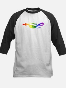 Rainbow Pride Dragon Kids Baseball Jersey