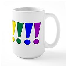 Rainbow Exclamation Points Mug