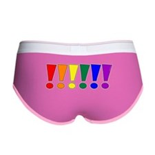 Rainbow Exclamation Points Women's Boy Brief