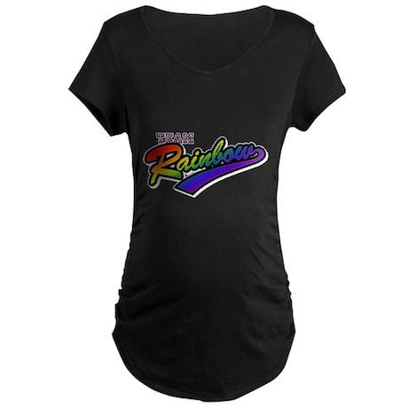 Team Rainbow Maternity Dark T-Shirt
