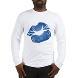 Blue lips Long Sleeve T-shirts