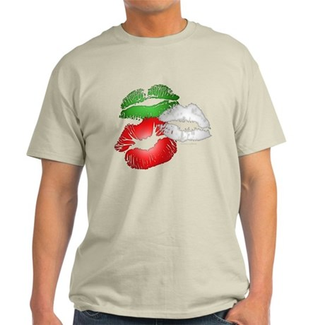 Italian Kissing Lips Light T-Shirt