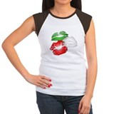 Italian kissing lips juniors Women's Cap Sleeve T-Shirt