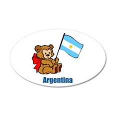 Argentina Teddy Bear 38.5 x 24.5 Oval Wall Peel