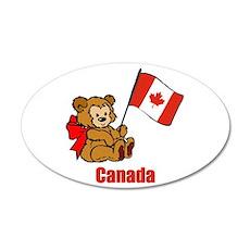 Canada Teddy Bear 38.5 x 24.5 Oval Wall Peel