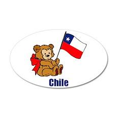 Chile Teddy Bear 38.5 x 24.5 Oval Wall Peel