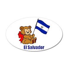 El Salvador Teddy Bear 38.5 x 24.5 Oval Wall Peel
