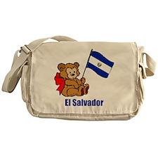 El Salvador Teddy Bear Messenger Bag